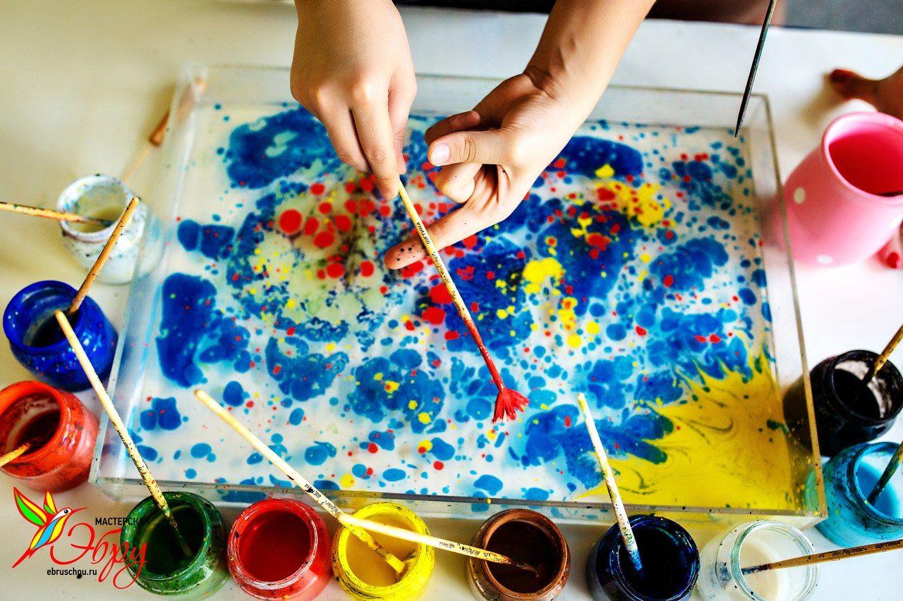 Эбру рисование на воде своими руками 54